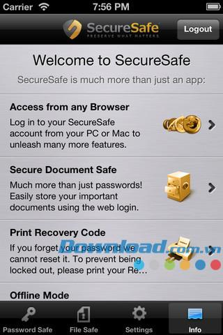 SecureSafe für iOS 2.4.0 - Sichere Datenverwaltung für iPhone / iPad