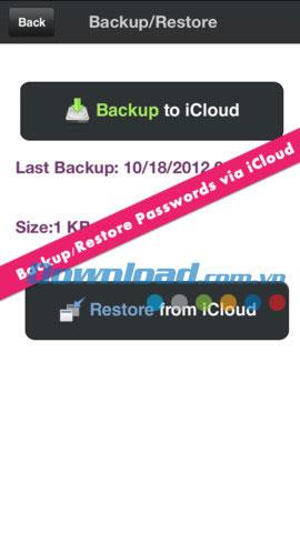 iOS1.2用のiPasswordManager-iPhone / iPad用のパスワードマネージャー