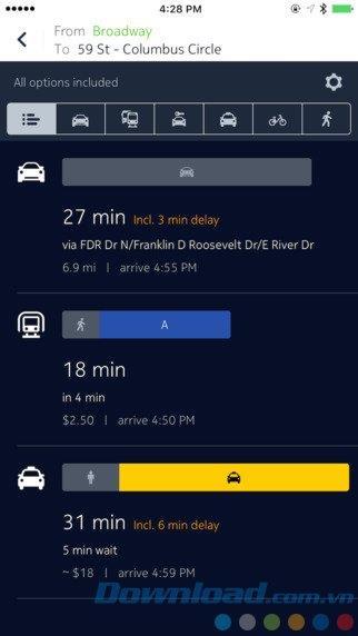 HIER WeGo für iOS 2.0.56 - Offline-Kartenanwendung, Wegbeschreibung in die Stadt