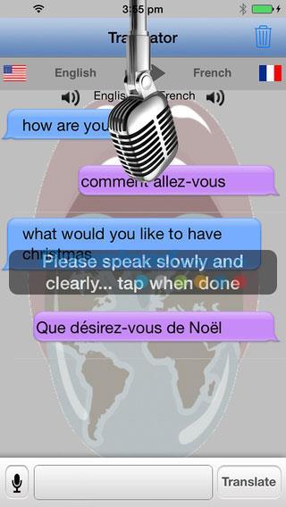 Traducteur avec Speech Free pour iOS 2.60 - Traduction vocale sur iPhone / iPad