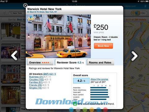 ebookers Hotels für iPad 1.4.2 - Der führende Hotelbuchungsservice für iPad