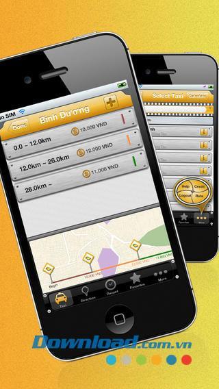 Taxikosten für iOS 1.2 - Software zur Suche nach den besten Taxiunternehmen