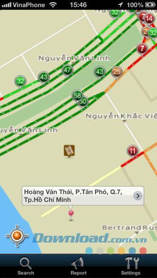 Giaothong247 für iOS 3.4.2 - Die erste Navigationssoftware für das iPhone
