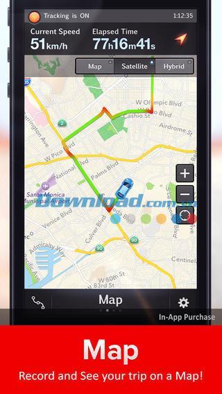 iOS5.3.1用のSpeedTrackerFree-iPhone / iPadのスマートスピードメーター
