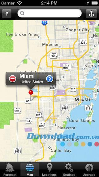 iOS3.0のヨット天気-iPhone / iPadの海の天気予報