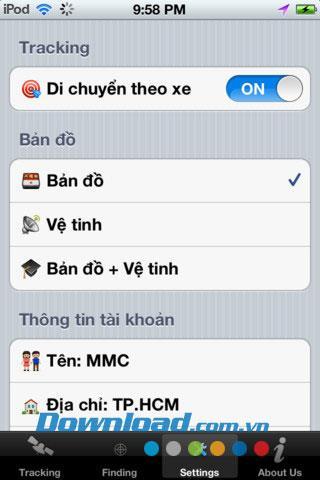 VKTracking pour iOS 1.1 - L'application vous aide à suivre le positionnement du véhicule