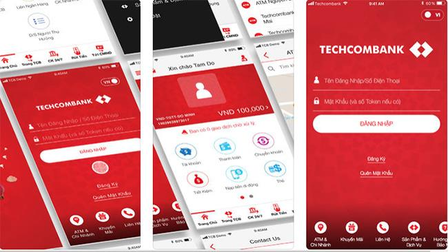 F @ st Mobile pour iOS 1.2.0.4 - Banking Techcombank via iPhone
