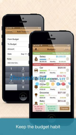Money Monitor Free für iOS 2.5 - Persönlicher Finanzmanager auf iPhone / iPad