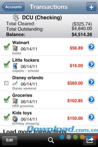 小切手帳+ iOS4.3.3の無料-iPhone / iPadのパーソナルファイナンスマネージャー