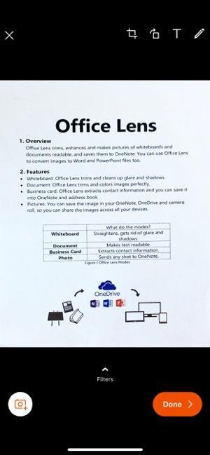 Office Lens pour iOS 2.39 - Numérisez des images aux formats Word et PDF