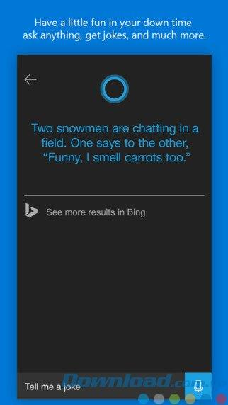 Cortana pour iOS 2.2.1 - Assistant virtuel Cortana de Microsoft sur iPhone / iPad