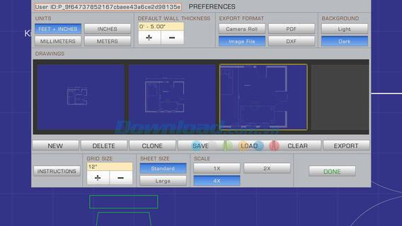 PadCAD Lite pour iOS 1.9.4 - Traitement des dessins CAO sur iPhone / iPad