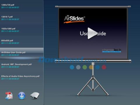 AirSlides Lite pour iOS 2.7 - Nouvelle méthode de présentation sur iPhone / iPad