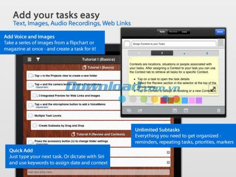 Taskfabric Organize: Pro LE pour iPad 1.9.1 - Gestionnaire de tâches d'entreprise sur iPad