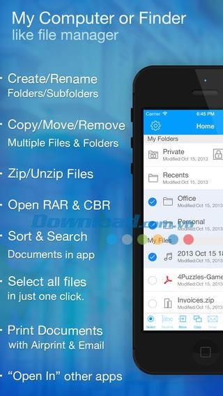 File Pro Mini pour iOS 4.3 - Gestion complète des fichiers sur iPhone / iPad