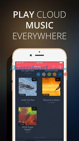 Evermusic pour iOS 2.1 - Lecteur de musique cloud sur iPhone / iPad