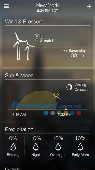 Yahoo Weather für iOS 1.9.2 - Schöne Wetter-App auf iPhone / iPad