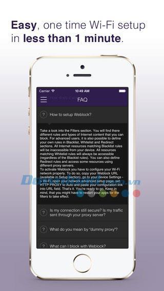 Weblock für iOS 3.4.1 - Blockieren Sie Anzeigen für Websites und Apps auf dem iPhone / iPad