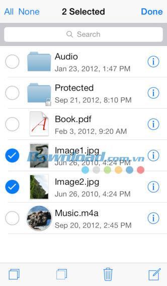 Disque USB pour iOS 2.0.1 - Gestion complète des fichiers sur iPhone / iPad
