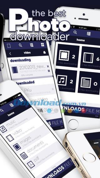 MPV Downloader pour iOS 1.0.1 - Gestionnaire de téléchargement gratuit sur iPhone / iPad