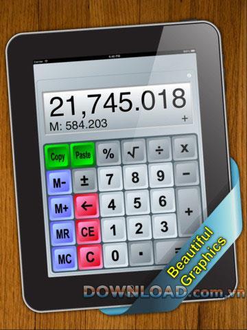 Calc - Calculatrice mathématique de base pour iOS 1.35 - Logiciel de calcul électronique pour iPad
