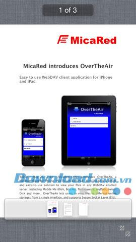 OverTheAir pour iOS 1.8.3 - Client WebDAV pour iPhone / iPad