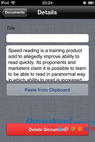 Reading Player Lite für iOS 2.2 - Freitextleser für iPhone / iPad