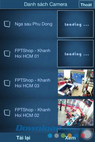 Caméra Cloud FPT pour iOS 1.1 - Utilisation de la caméra de surveillance de sécurité