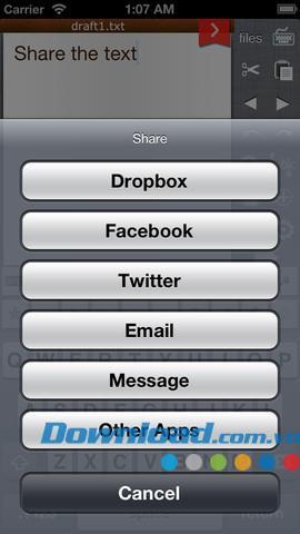 Fast Keyboard für iOS 1.8.2 - Freier Texteditor für iPhone / iPad