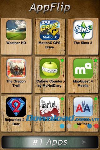 AppFlip pour iOS 1.1 - Découvrez de nouvelles applications pour iPhone / iPad
