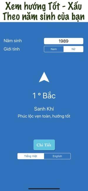 Kompass für Feng Shui nach Alter für iOS 28 - Sehen Sie die Richtung von gut und schlecht nach Geburtsjahr