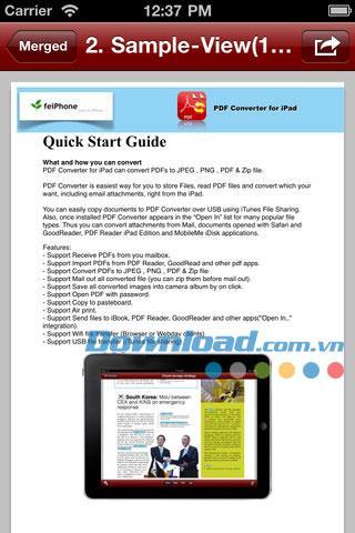 PDF Merger for iOS 1.2 - Logiciel de fusion PDF pour iPhone / iPad