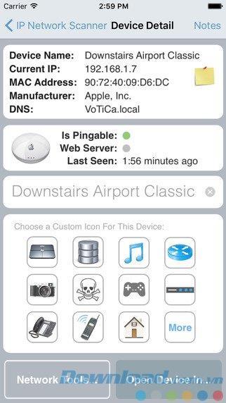 iOS3.96用のIPNetwork Scanner Lite-iPhone / iPadでネットワークデバイスを管理する