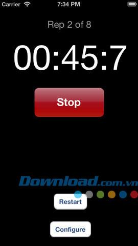 Stretches Timer for iOS 2.0 - Minuterie d'exercice pour iPhone / iPad