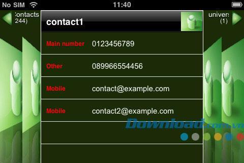 eGroup für iOS 1.2 - Kontakte für iPhone / iPad verwalten