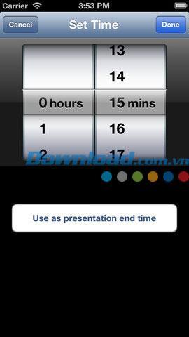 Minuteur de présentation pour iOS 3.0 - Minuteur de présentation pour iPhone / iPad