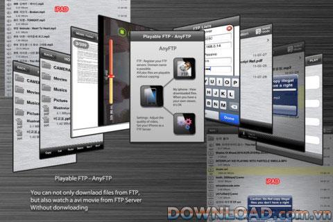 FTP lisible - AnyFTP pour iOS - Une application qui connecte le serveur FTP