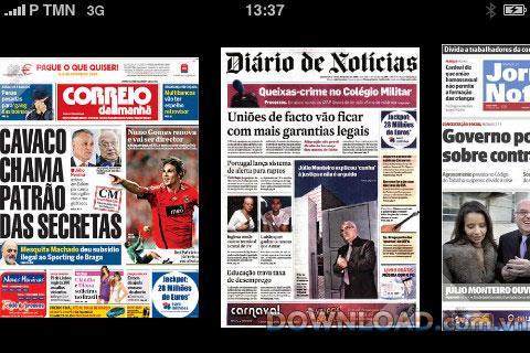 SAPO News pour iOS - Mise à jour des actualités des médias portugais