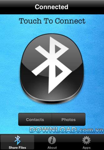 iShareFiles pour iOS - Partager des données via Bluetooth pour iPhone