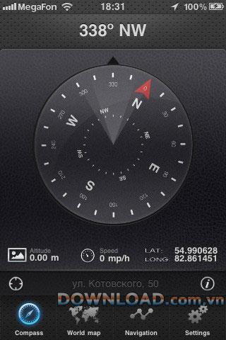 Advanced Compass pour iOS - Application Compass sur iPhone