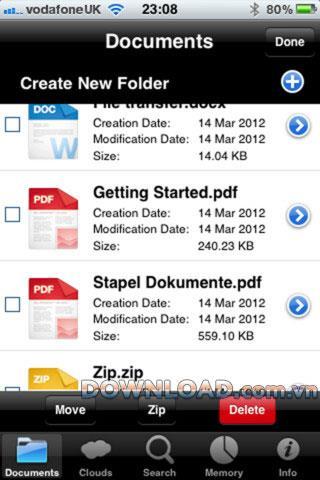 Document Manager Lite für iOS - Dateiverwaltungssoftware für iPhone