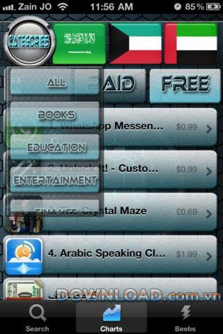 Labeeb pour iOS - Logiciel de recherche d'applications pour iPhone