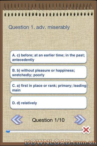 TOEIC Vocabulary Test Pack pour iOS - Logiciel de vocabulaire TOEIC pour la préparation aux examens iPhone