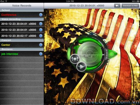 iPad用SkinsLite付きサウンドレコーダー-iPad用オーディオ録音ソフトウェア