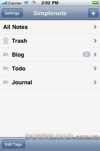 Simplenote foriOS-iPhone用のNotesマネージャー