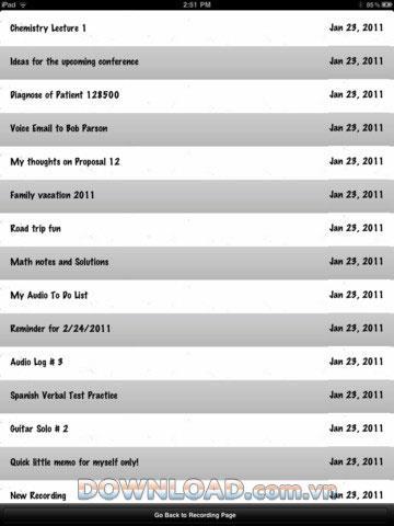 Ω Recorder for iPad - Outil d'enregistrement utilitaire pour iPad