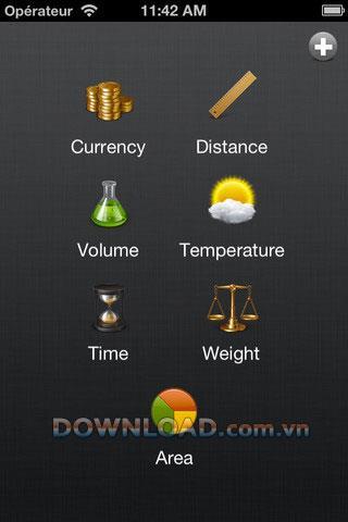 Convertir HD pour iPhone - Convertir entre les unités