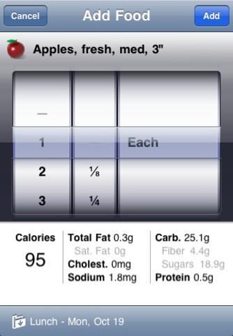 Le perdre!  pour iOS - Conserver les habitudes alimentaires «froides et fortes»