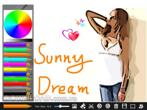 Sunny Board Free für iPad - Zeichenanwendung auf dem iPad