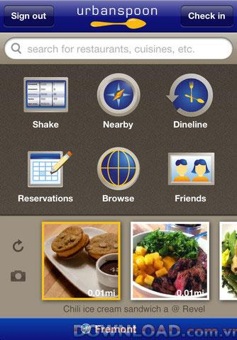 Urbanspoon pour iOS - Rechercher un restaurant